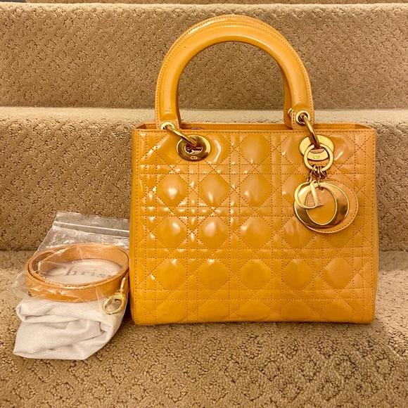 Authentic Christian Dior lady medium yellow